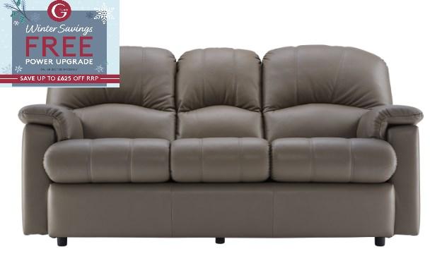 G Plan Chloe Leather 3 Seater