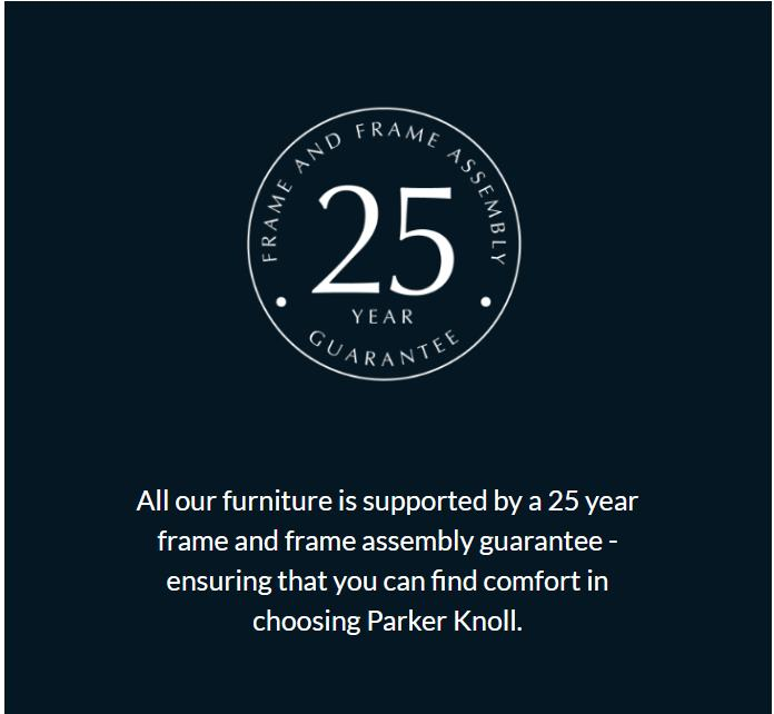 Parker Knoll 25 Year Frame Guarantee