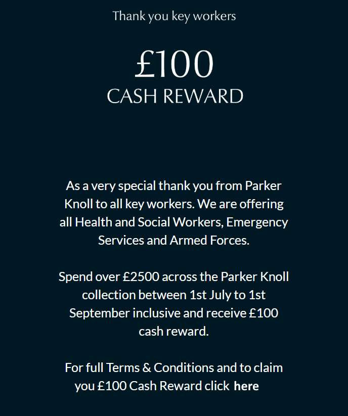 A Thank You To Key Workers From Parker Knoll