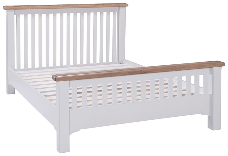 New England Grey Painted 5ft King Bed