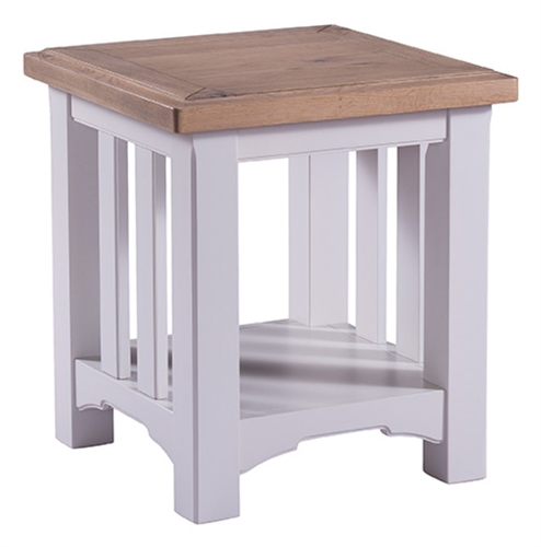 New England Grey Painted Lamp Table