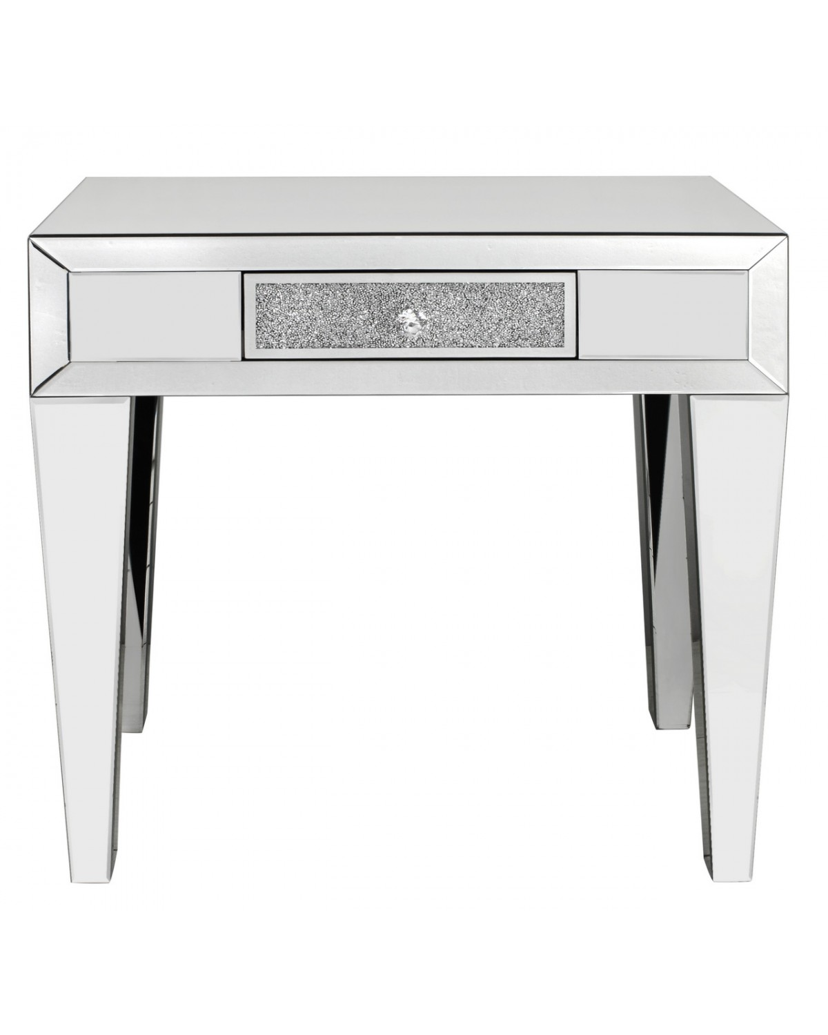 Turin Crushed Mirror Console Table