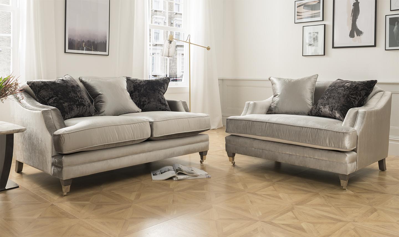 Belvedere Velvet 2 Seater Sofa Lifestyle