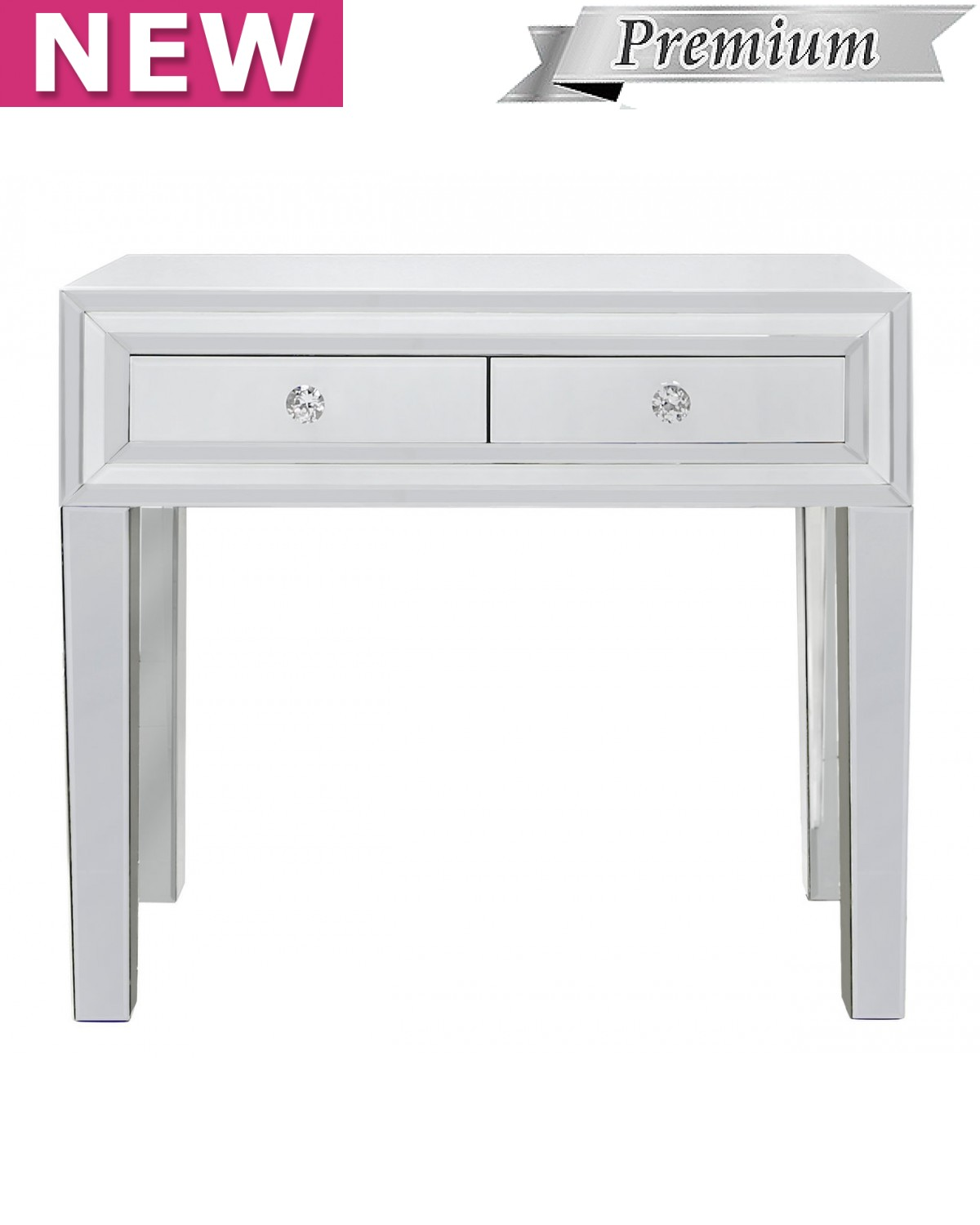 Brooklyn White 2 Drawer Console Table