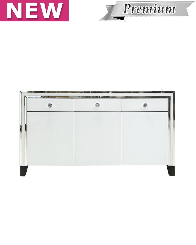 Brooklyn White 3 Drawer 3 Door Cabinet