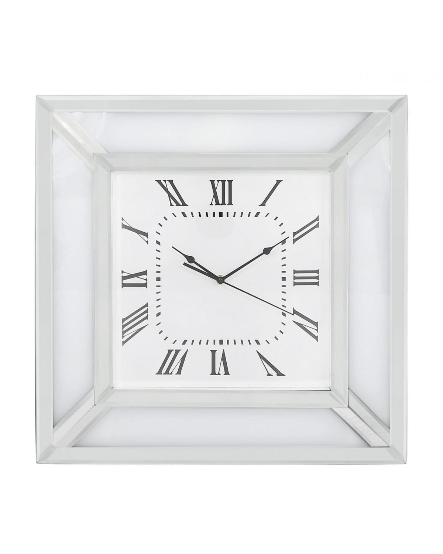 Brooklyn White Mirror Wall Clock
