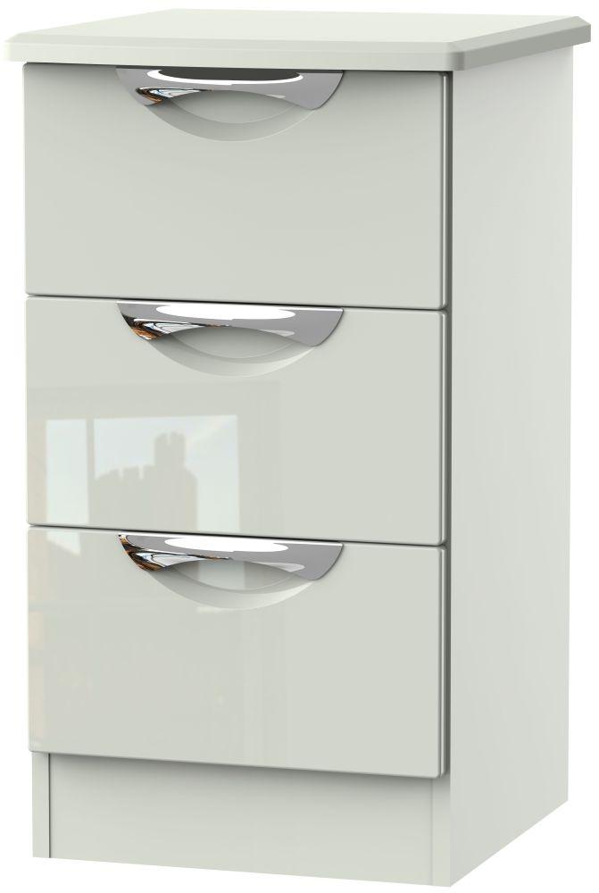 Remarkable Camden High Gloss Kaschmir 3 Drawer Locker Beutiful Home Inspiration Truamahrainfo
