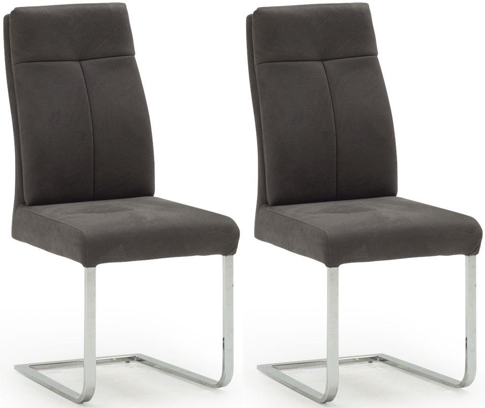 Donatella Grey Dining Chair (Pair)