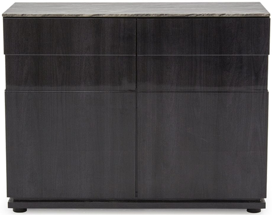 Donatella Grey Marble 2 Door Narrow Sideboard