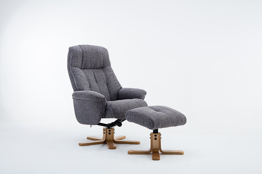 Emirates Swivel Chair & Stool Lisbon Grey