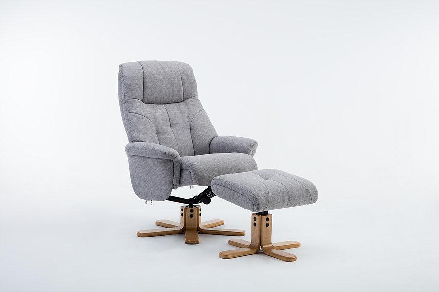 Emirates Swivel Chair & Stool Lisbon Silver