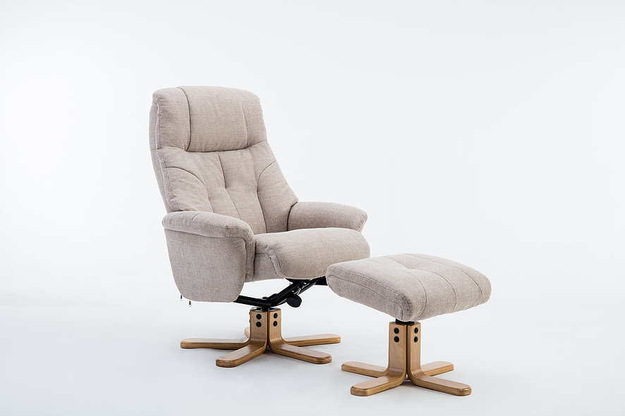 Emirates Swivel Chair & Stool Lisbon Wheat