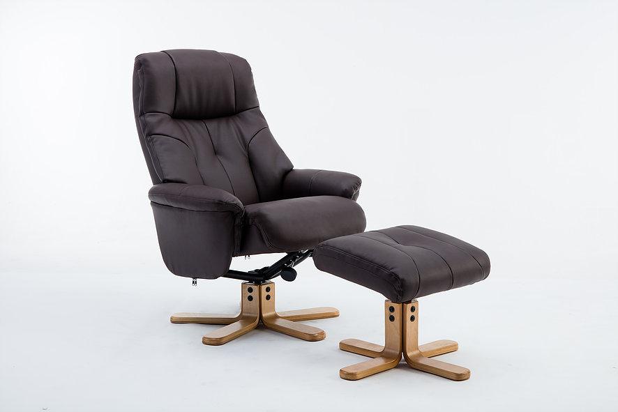 Emirates Swivel Chair & Stool Plush Brown