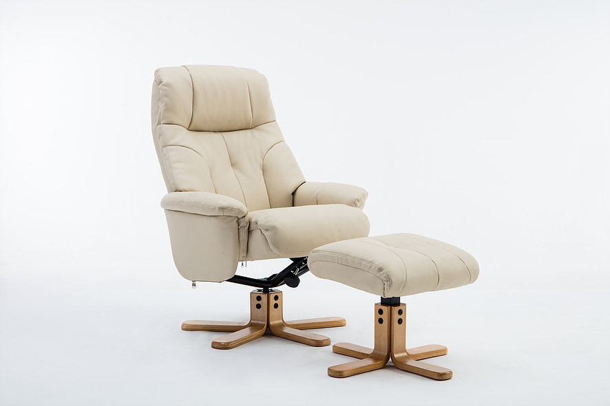 Emirates Swivel Chair & Stool Plush Cream