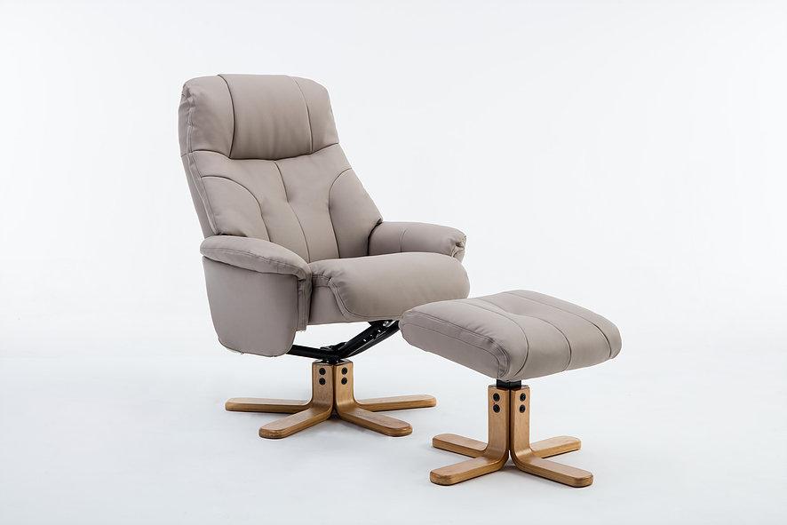 Emirates Swivel Chair & Stool Plush Pebble