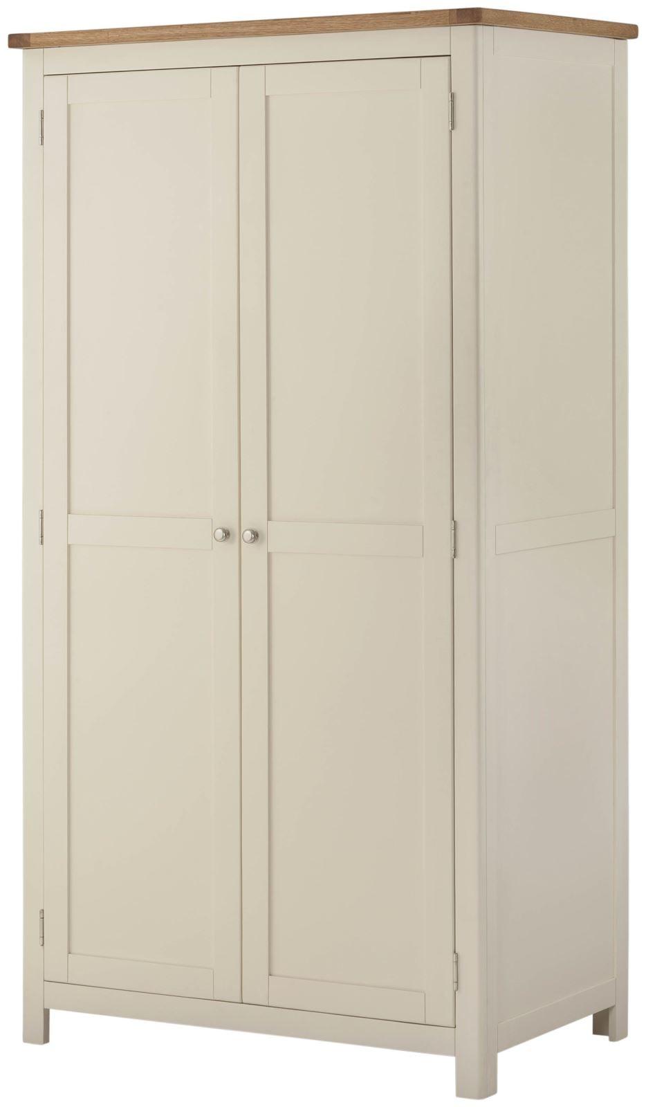 Portland Cream 2 Door Wardrobe