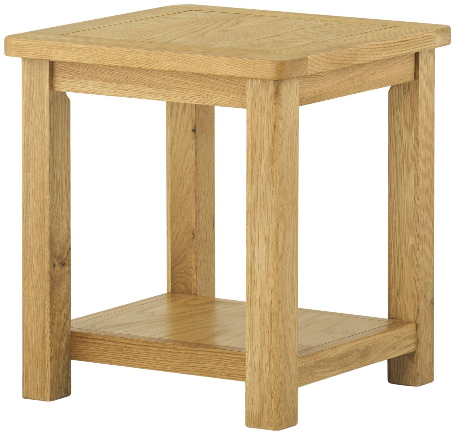 Portland Oak Lamp Table