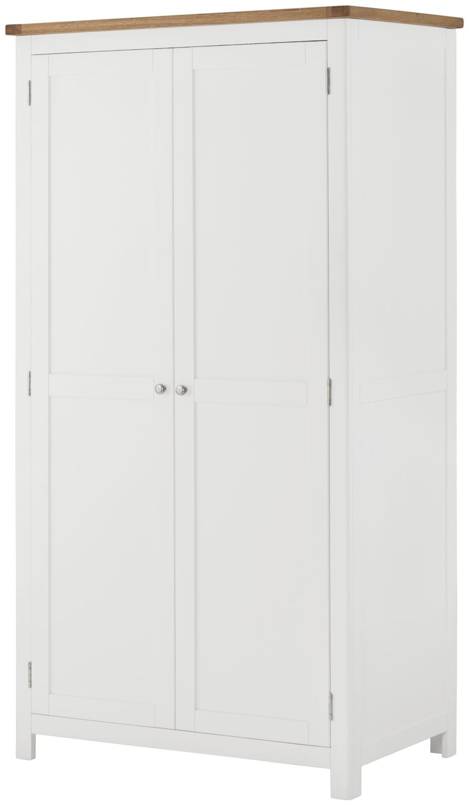 Portland White 2 Door Wardrobe