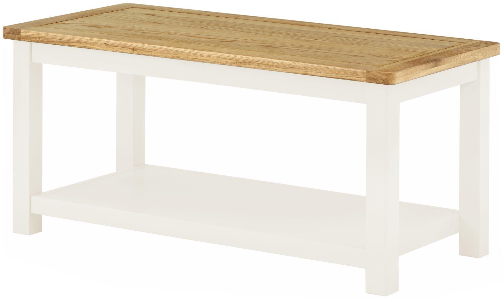 Portland White Coffee Table