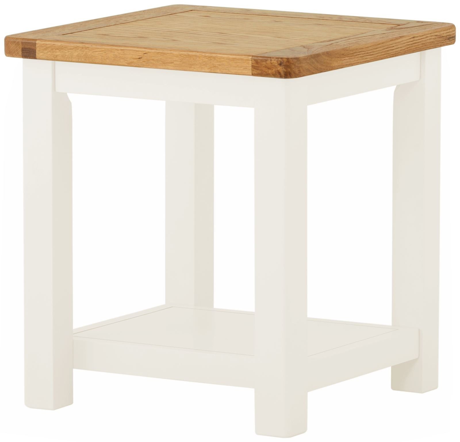 Portland White Lamp Table