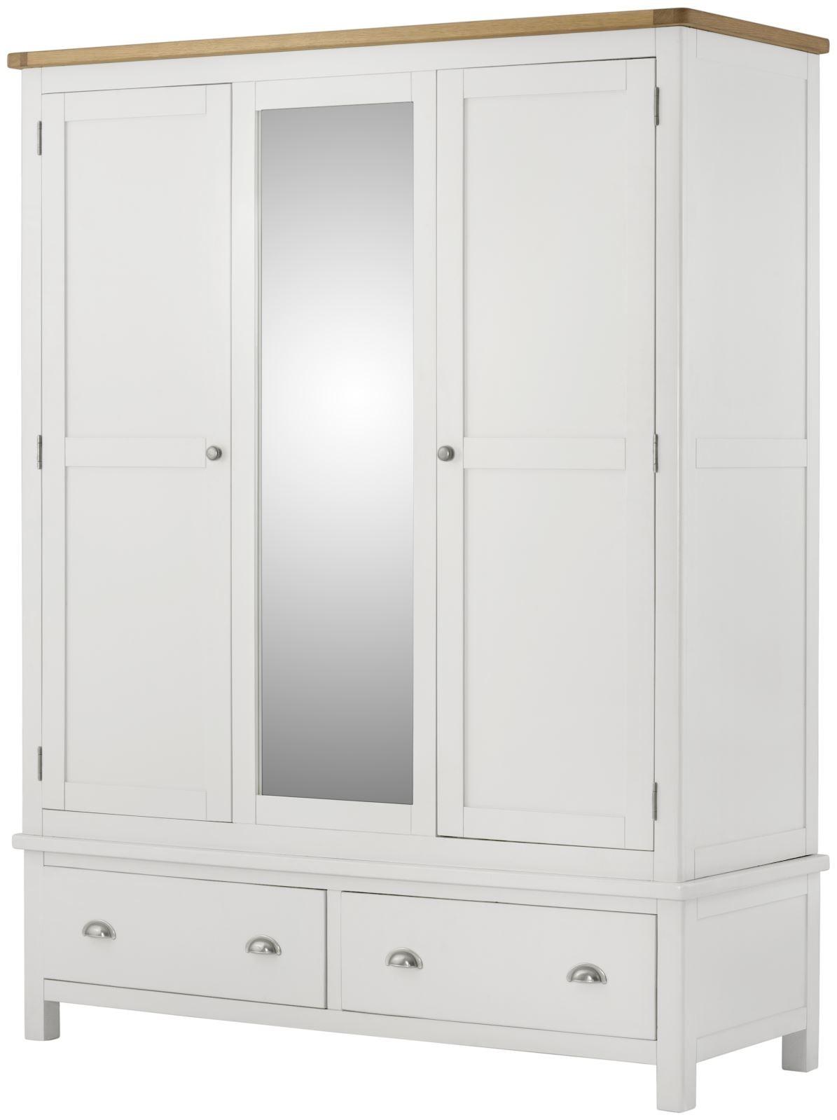 Portland White Triple Wardrobe
