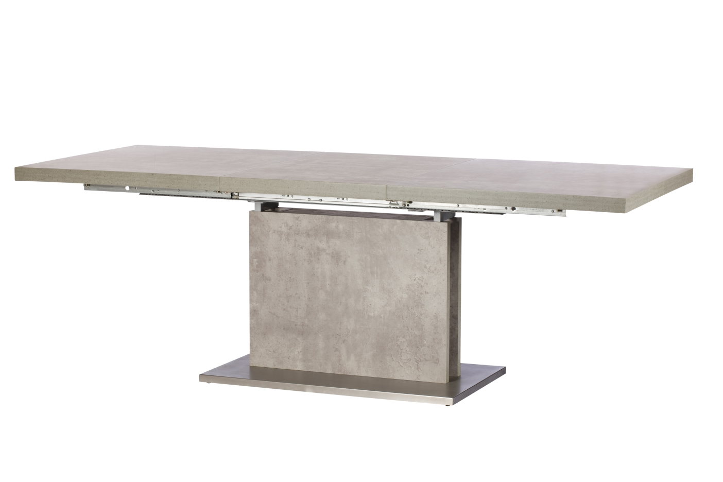 Pella Concrete Effect Extending Dining Table Amp 4 Chairs