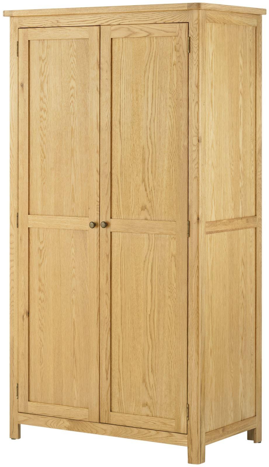 Portland Oak 2 Door Wardrobe