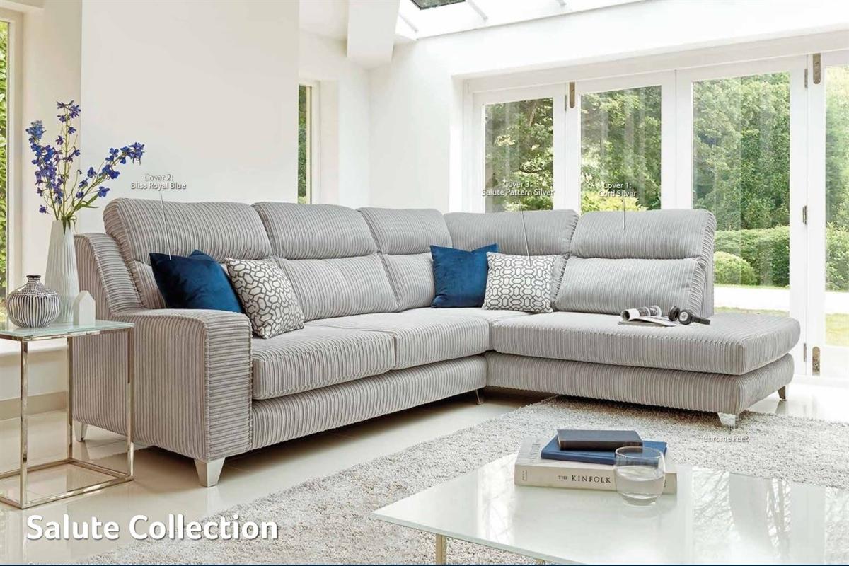 Salute Corner Group Fabric Sofa
