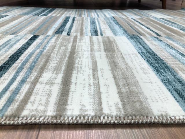 Velour GSF 115 x 170 cm Stripe Rug Blue  Close