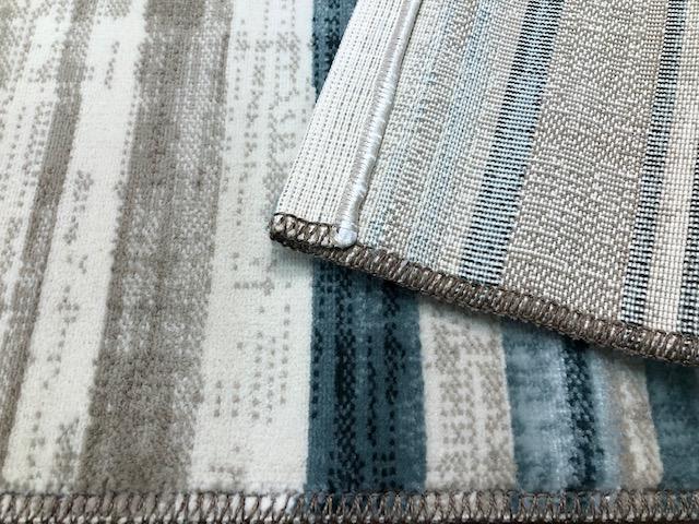 Velour GSF 115 x 170 cm Stripe Rug Blue  Backing