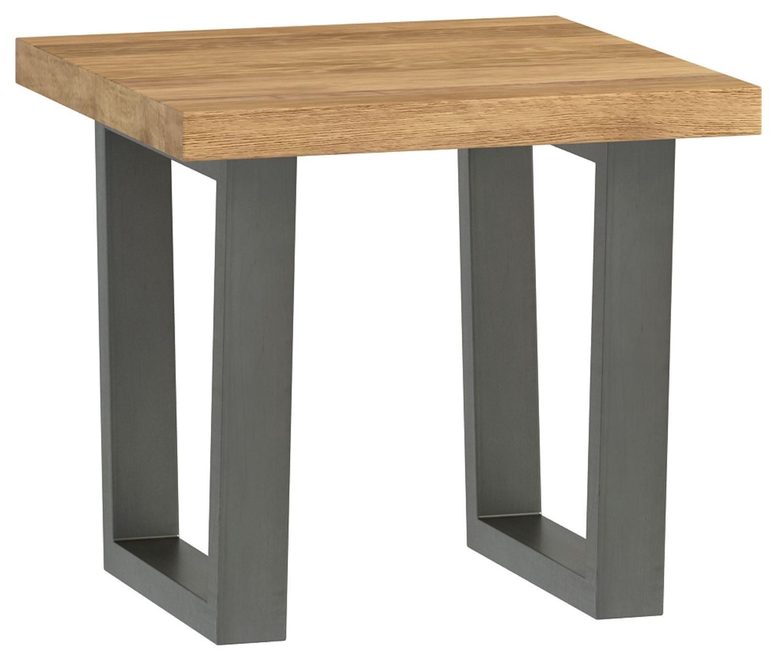 Wentwood Industrial Oak Lamp Table
