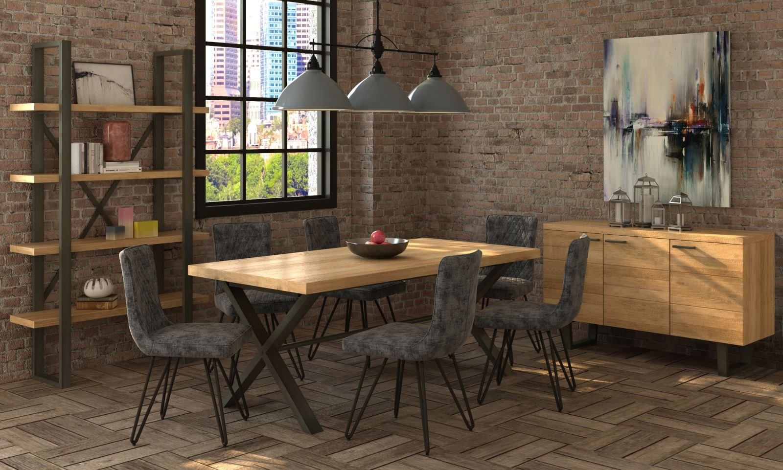 Wentwood Industrial Oak Furniture