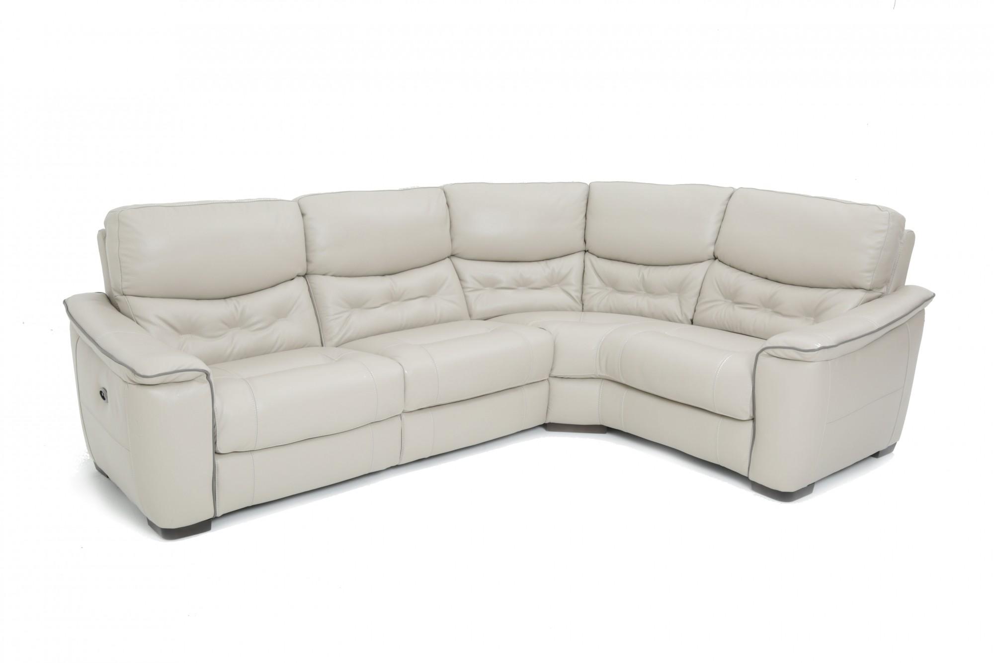 Zen Leather Large Corner Power Recliner Sofa Group