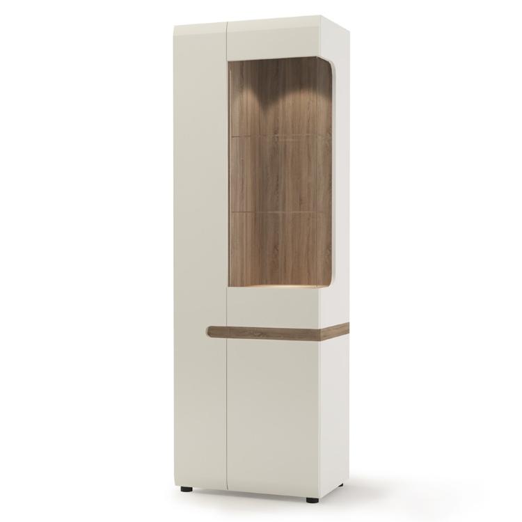 Mayfair Living Designer Tall Glazed Narrow Display Unit