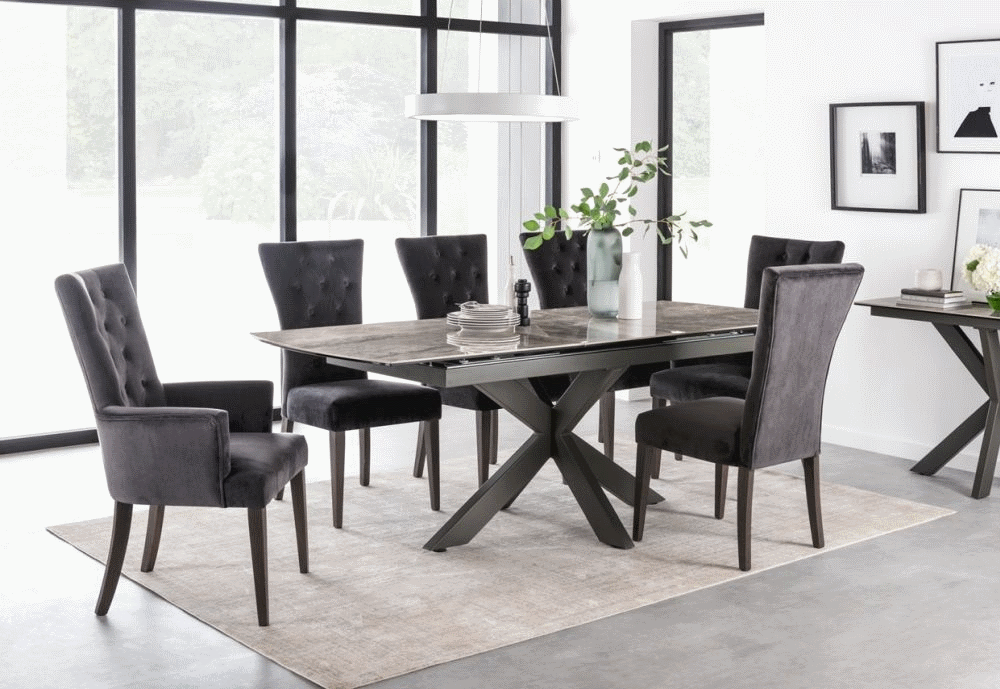 Surprising Valerius Ceramic Marble Effect Extending Dining Table 6 Chairs Download Free Architecture Designs Intelgarnamadebymaigaardcom