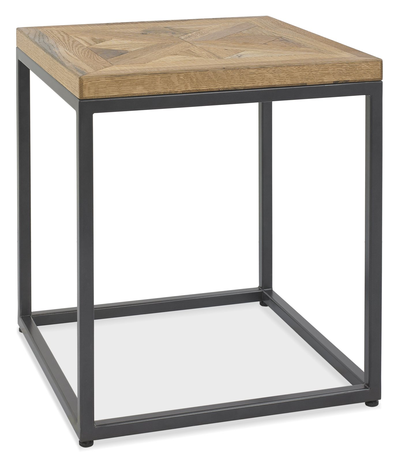 Indus Rustic Oak Lamp Table