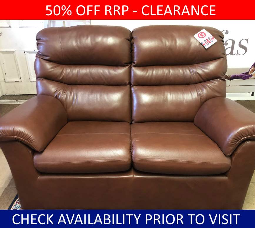 G Plan Clearance Malvern 2 Seater Leather Sofa