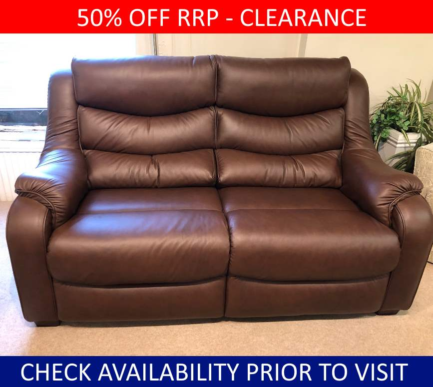Parker Knoll Clearance Denver 2 Seater Leather Sofa