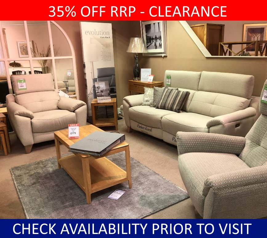Parker Knoll Clearance Evolution Large 2 Seater, Chair & Swivel