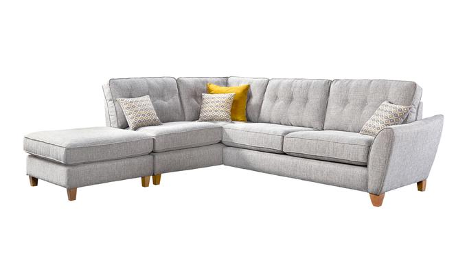 Ashley Corner Sofa & Footstool LHF | George Street Furnishers