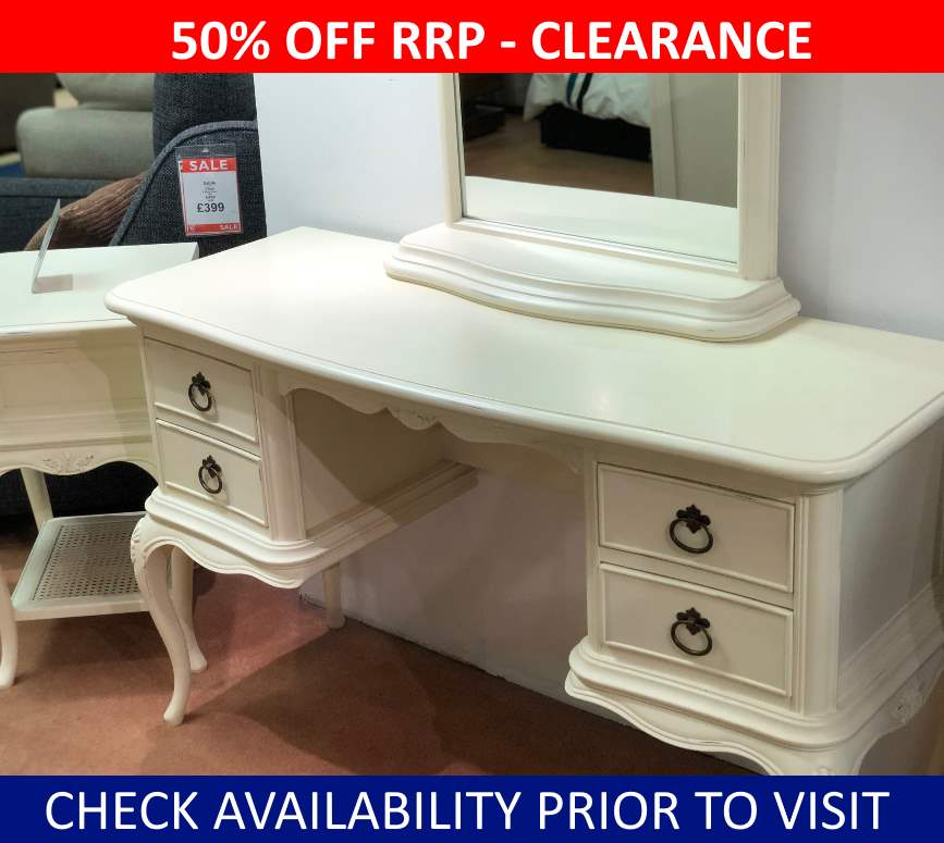 Willis & Gambier Ivory Clearance Dressing Table & Mirror