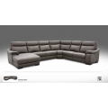 Roma Leather Large Corner Power Recliner Couch End Chaise