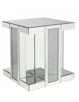 Turin Crushed Mirror End Table