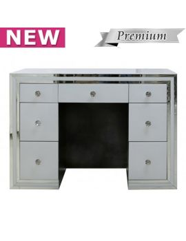 Brooklyn White 7 Drawer Dressing Table