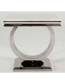Arianna Cream Marble Lamp Table