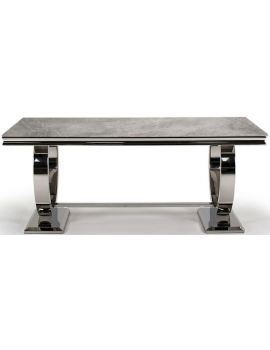 Arianna Grey Marble 200cm Dining Table