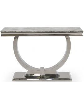 Arianna Grey Marble Console Table