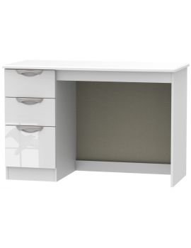 Camden High Gloss White 3 Drawer Desk
