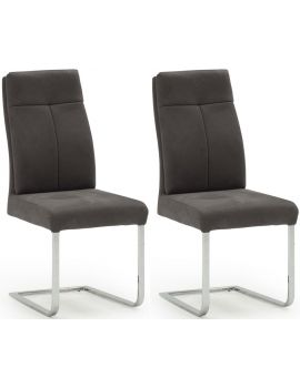 Donatella Grey Dining Chair (Pair)