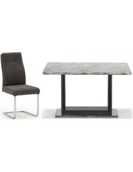 Donatella Grey Marble 160cm Dining Table & 4 Chairs